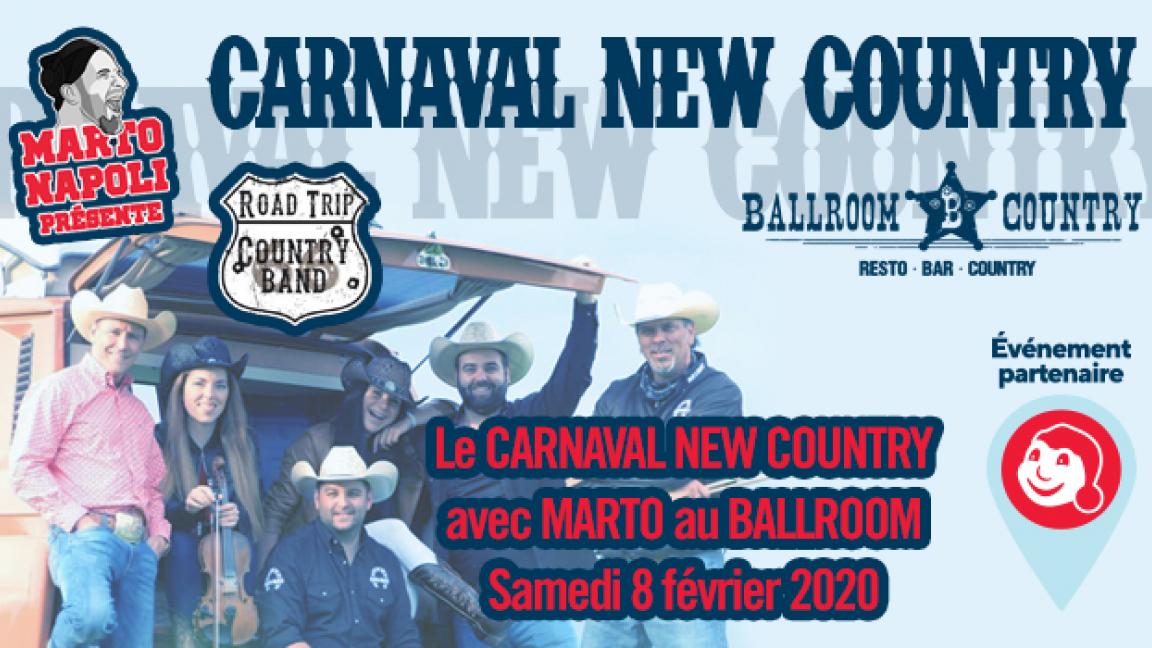 Le 1er Carnaval New Country au Ballroom