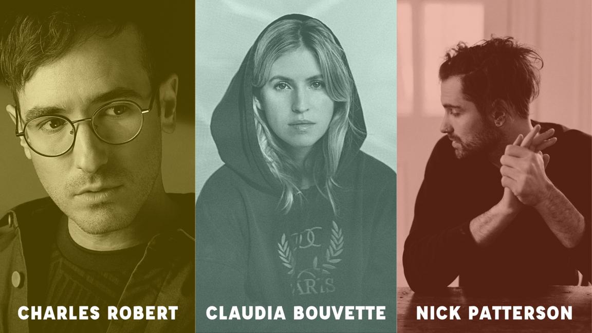 Claudia Bouvette, Charles Robert, Nick Patterson à Soif de Musique
