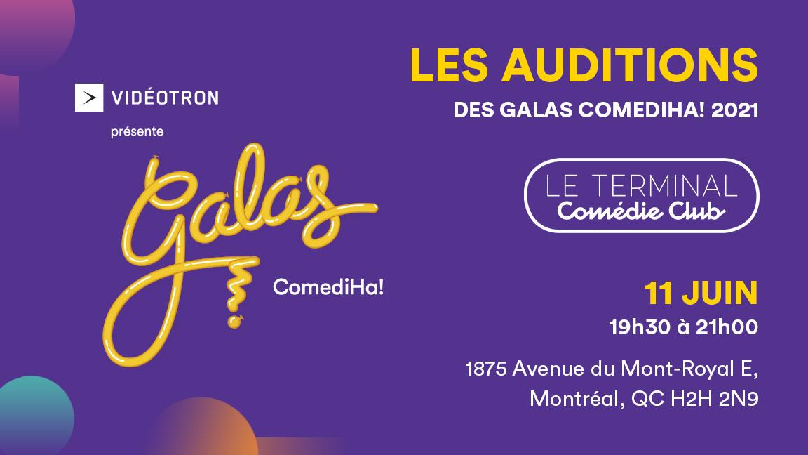 Auditions des Galas ComédiHa! 2021
