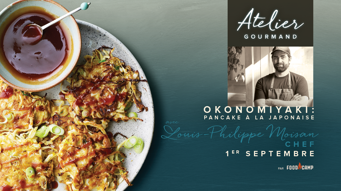 Okonomiyaki: pancake à la japonaise avec Louis-Philippe Moisan
