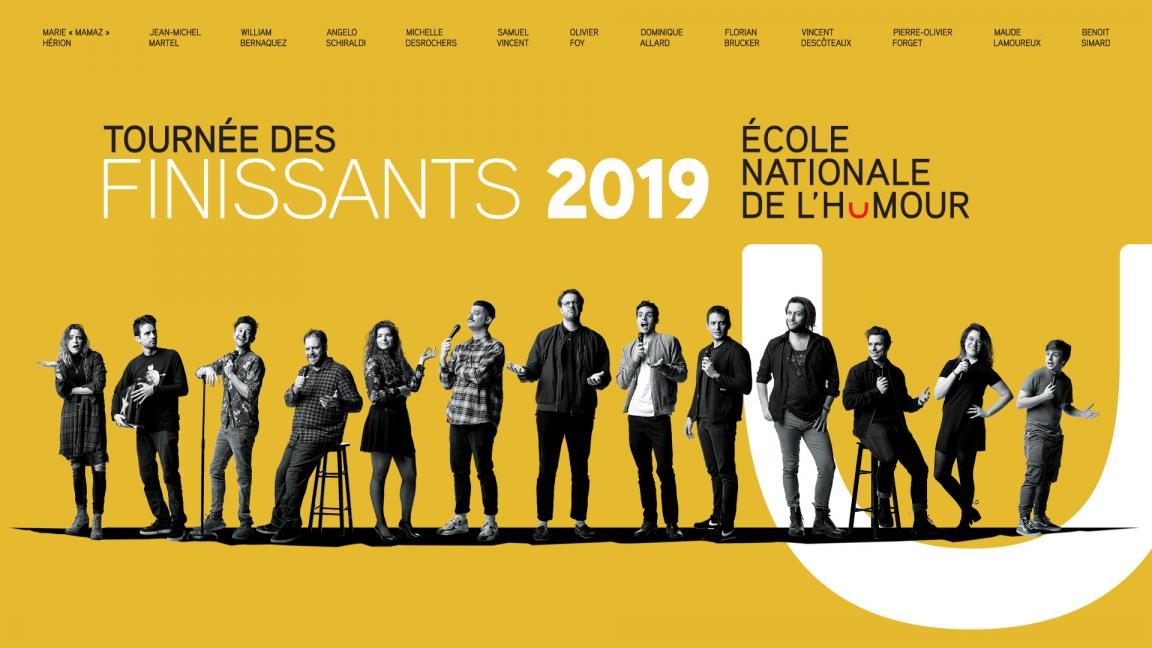 Spectacle-bénéfice La Tournée des finissants de l'École nationale de l'humour 2019