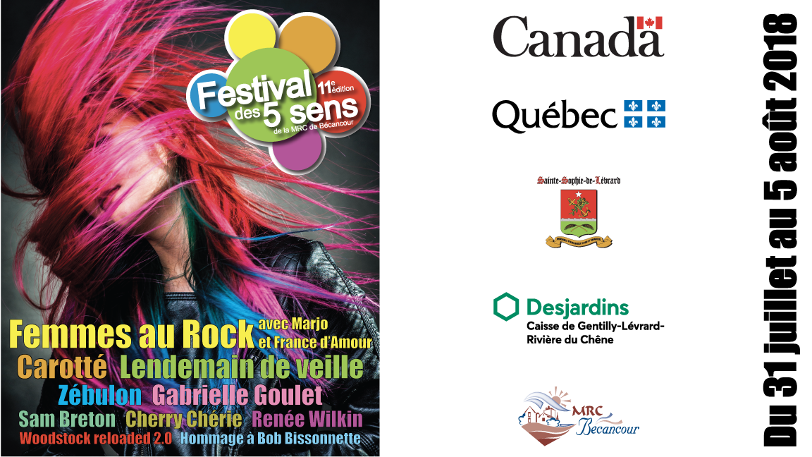 Festival des 5 sens de la MRC de Bécancour 11e édition