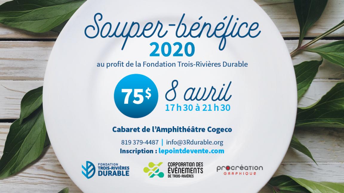 Souper-bénéfice annuel 2020 au profit de la Fondation Trois-Rivières durable