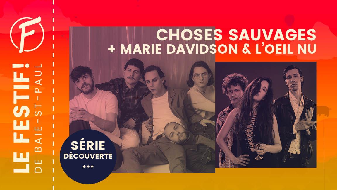 Marie Davidson & L'Oeil Nu + Choses Sauvages
