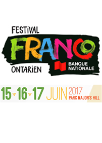 Festival Franco-Ontarien Banque Nationale présente Festival Franco-Ontarien 2017 – 15 au 17 juin 2017 – Parc Major's Hill Park, Ottawa, ON