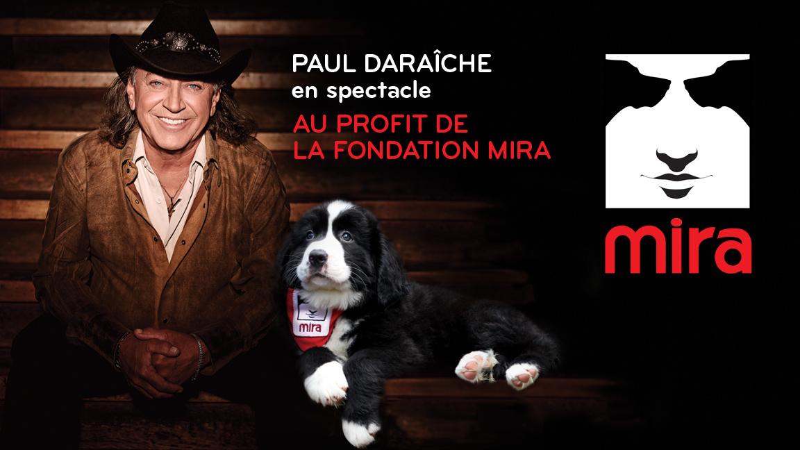 Paul Daraîche en spectacle pour la Fondation Mira