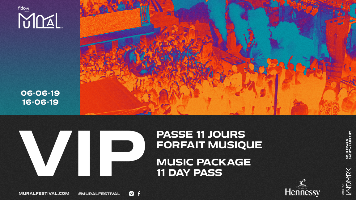 Music Package - 11 day pass VIP MURAL Festival VIP Experience presented by Hennessy