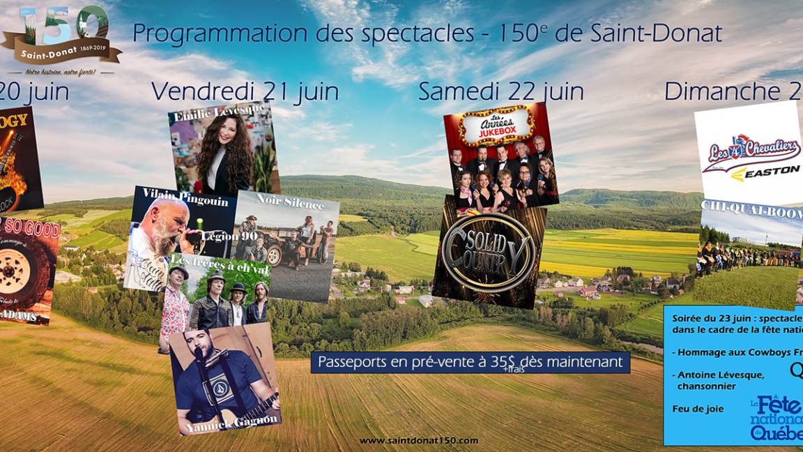 Saint-Donat-de-Rimouski, 1869-2019, Notre histoire, notre fierté