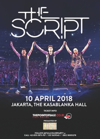 Full Color Entertainment presents The Script 'Freedom Child Tour' Live in Jakarta: The Script – April 10th 2018 – The Kasablanka Hall, Jakarta Selatan, JK