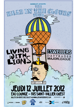 Exo présente Living With Lions, The Swellers, Daytrader & Major League – 12 juillet 2012 – EXO Lounge, Québec, QC