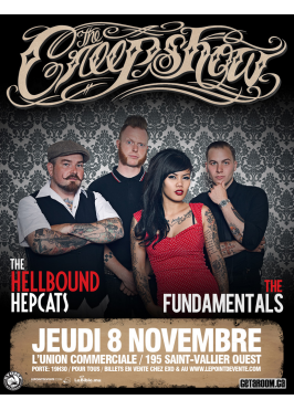 getaroom.ca présente THE CREEPSHOW, HELLBOUND HEPCATS, THE FUNDAMENTALS – 8 novembre 2012 – L'Union Commerciale, Québec, QC