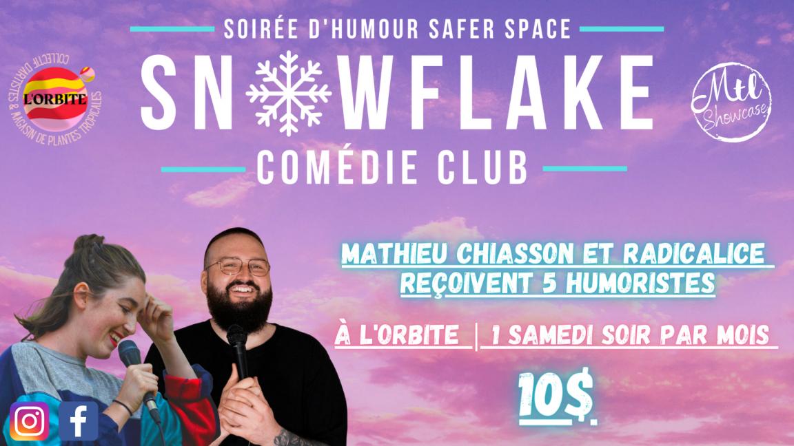 Snowflake Comédie Club - 27 Nov. 2021