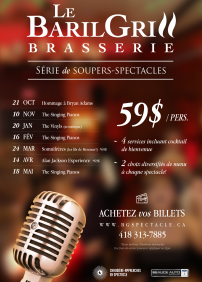 Baril Grill en spectacle! – 20 janvier 2018 – Baril Grill, Saint-Georges, QC