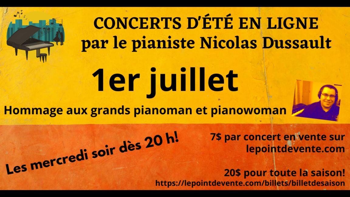 Hommage instrumental aux grands pianoman et pianowoman