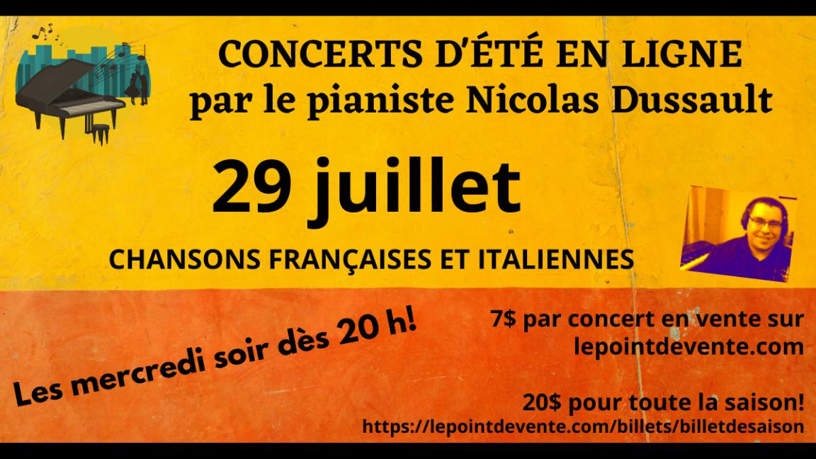 Chansons françaises et italiennes au piano