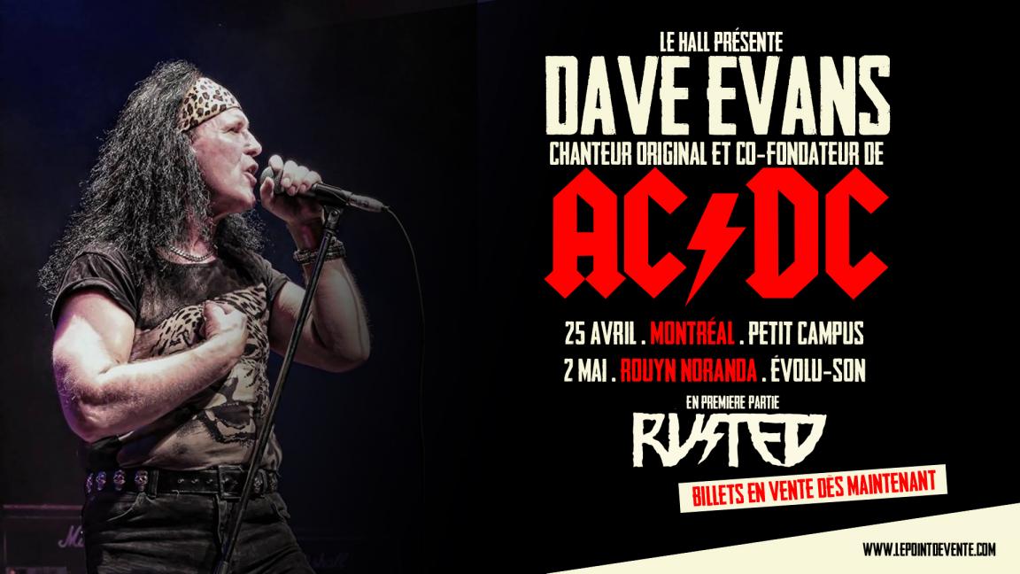 Dave Evans - (AC/DC) chanteur original en spectacle à Rouyn-Noranda