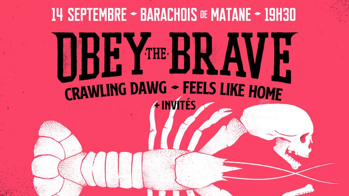 Obey the brave / Feels like home / Crawling dawg / Invité @ Matane
