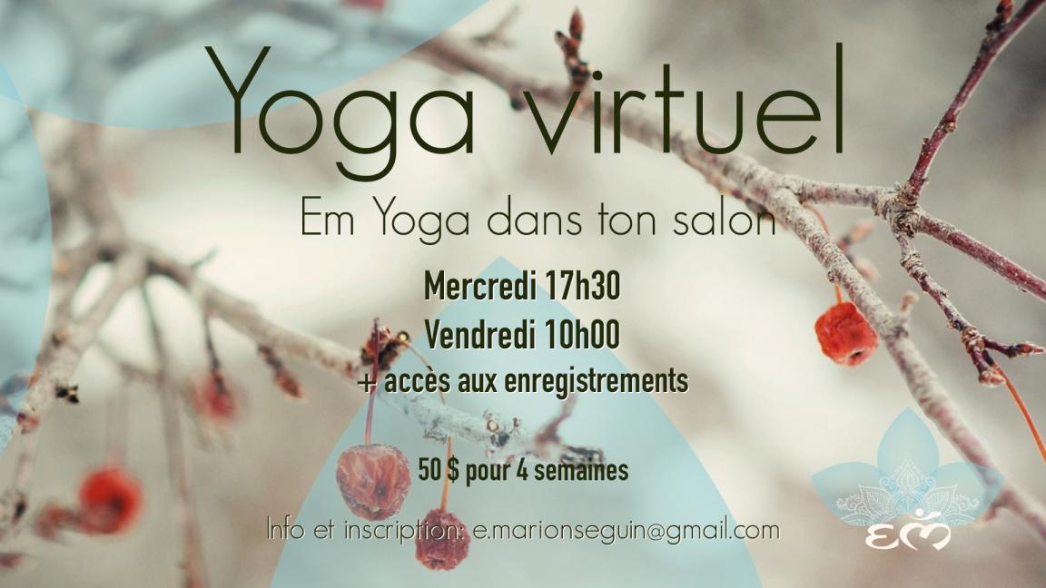 Yoga Virtuel Janvier 2021