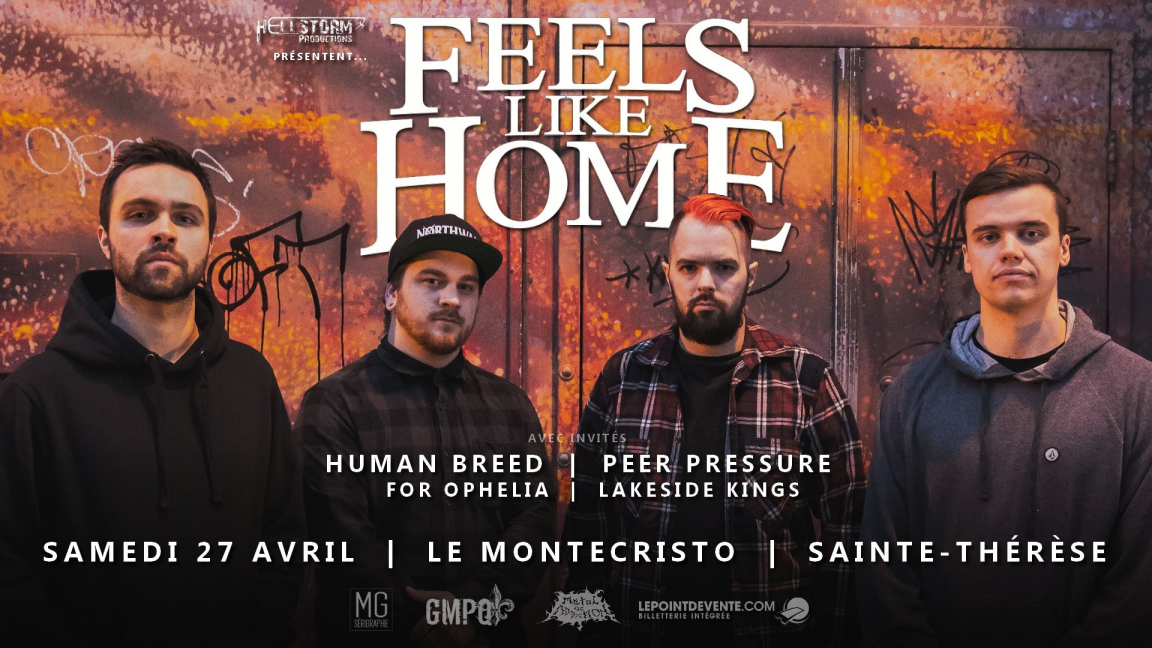 Feels Like Home - Human Breed - Peer Pressure - For Ophelia - Lakeside Kings