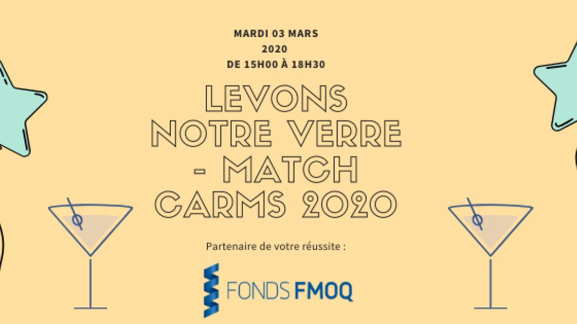 Pré-Soirée Match Carms-2020 : Levons notre verre