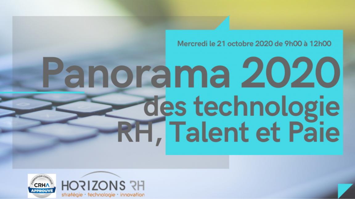 Panorama 2020 des technologies RH, talent et paie