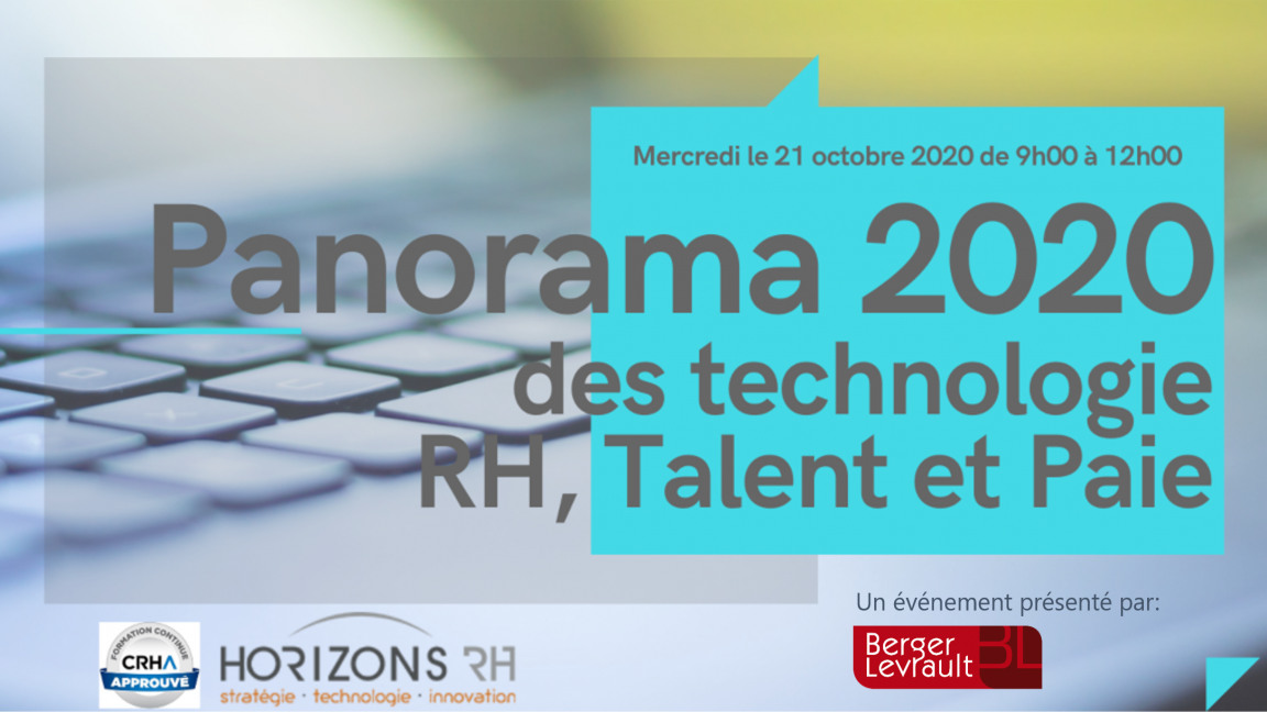 Panorama 2020 des technologies RH, talent et paie