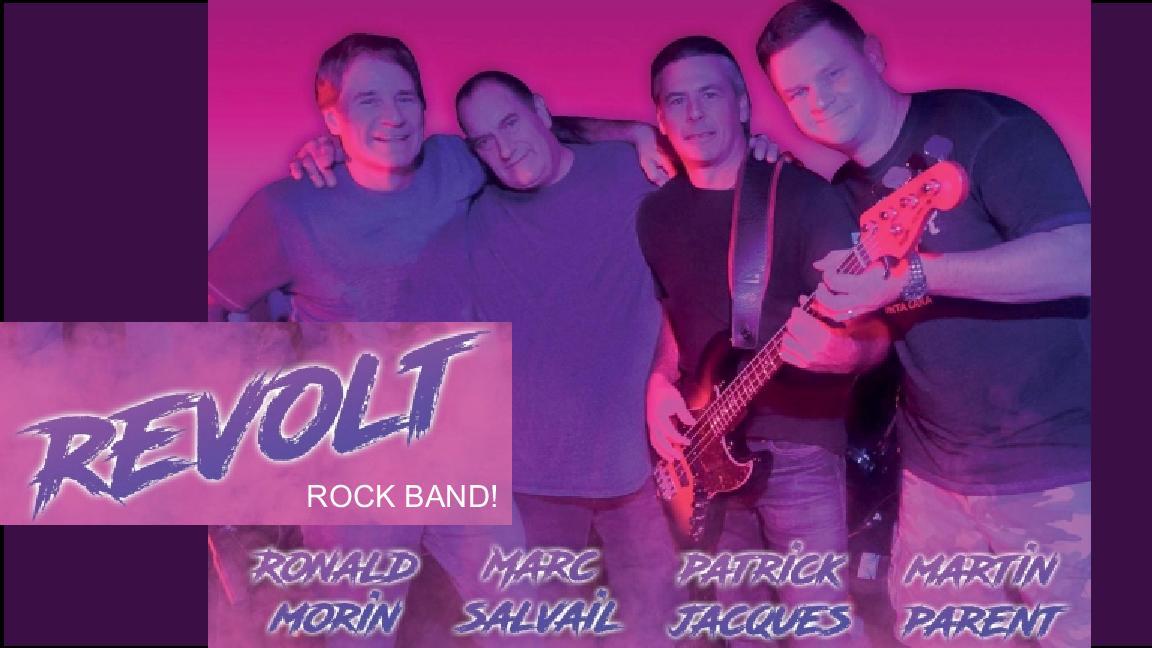 Party de Noël avec Revolt les meilleures classiques du Rock!
