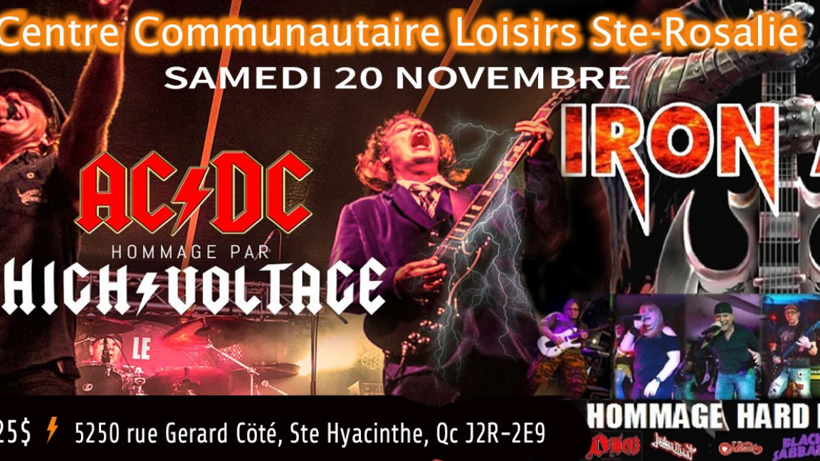 HIGH VOLTAGE -IRON AGE Hommage aux Légendes Hard Rock