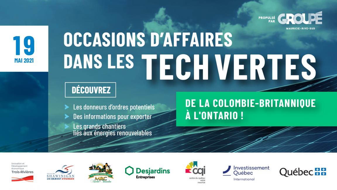 TECHNOLOGIES VERTES : Occasions d'affaires dans l'Ouest Canadien