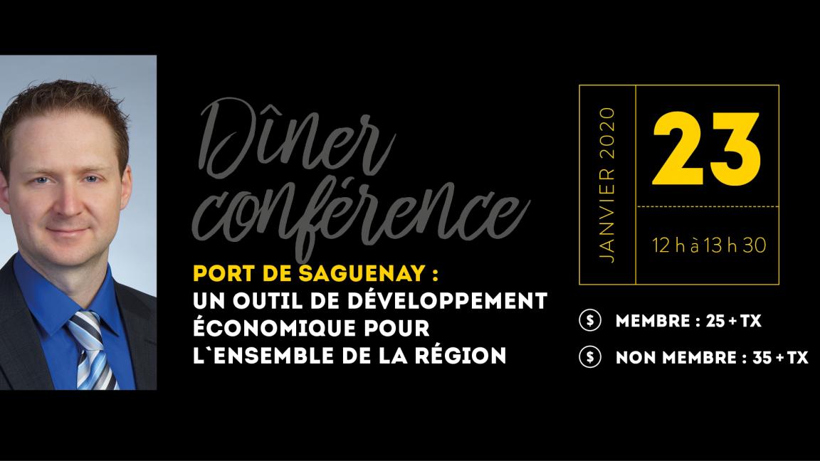 Dîner conférence - Port de Saguenay