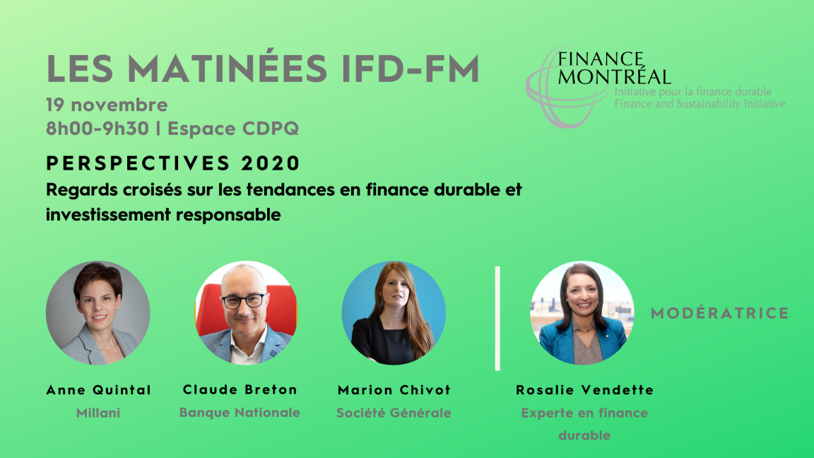 Finance durable et investissement responsable - Perspectives 2020