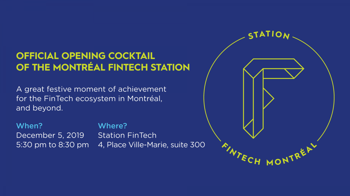 Montréal FinTech Station's opening cocktail