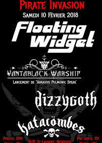 PIRATE INVASION : Avec FLOATING WIDGET + VANTABLACK WARSHIP + DIZZYGOTH