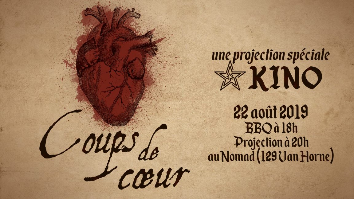 BBQ KINO + projection Coup de coeur!
