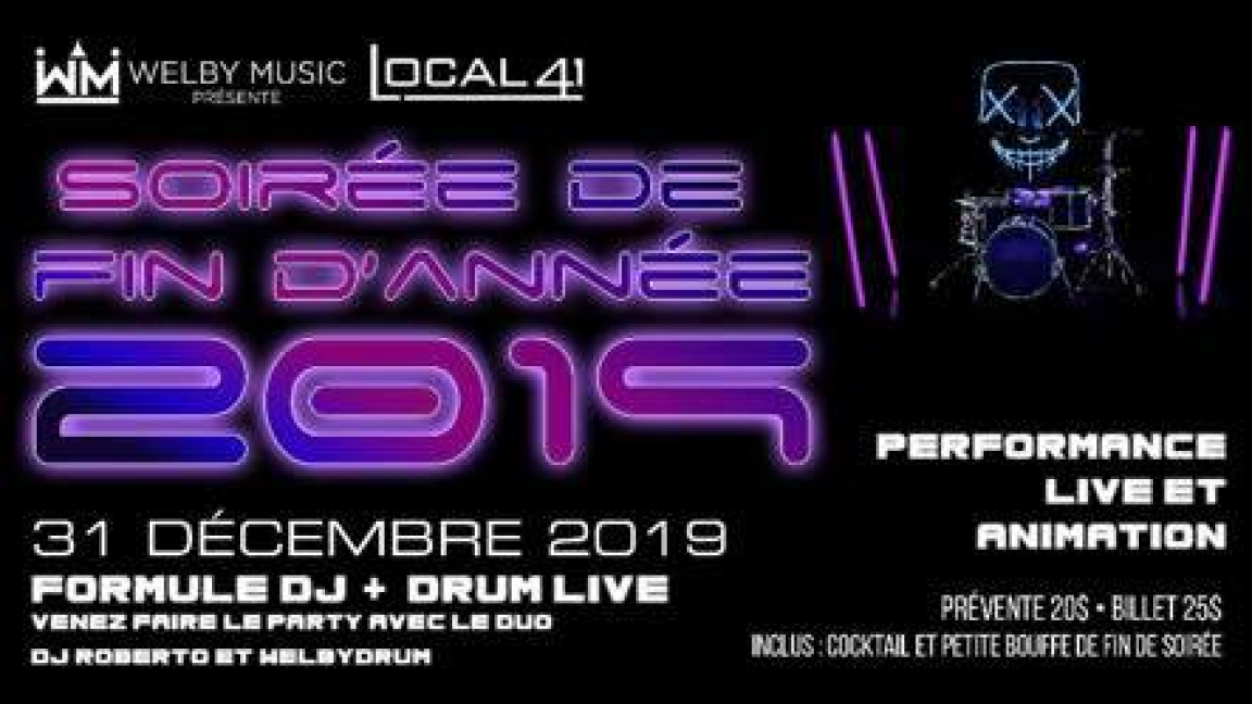 Party 2020 : Dj+Drummer à Sainte-Thérèse
