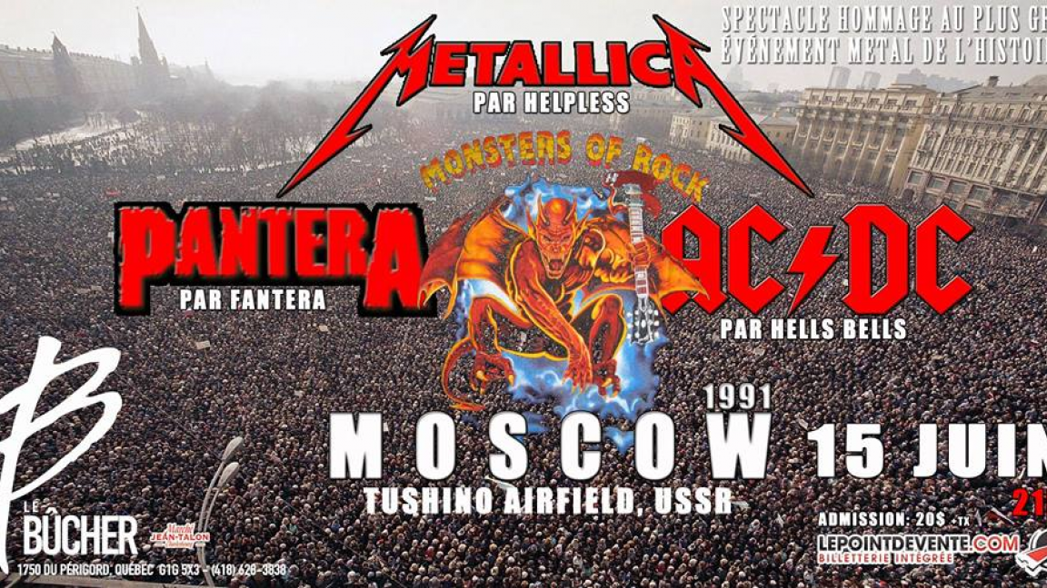 Monsters of Rock - Moscow 1991 au Bûcher