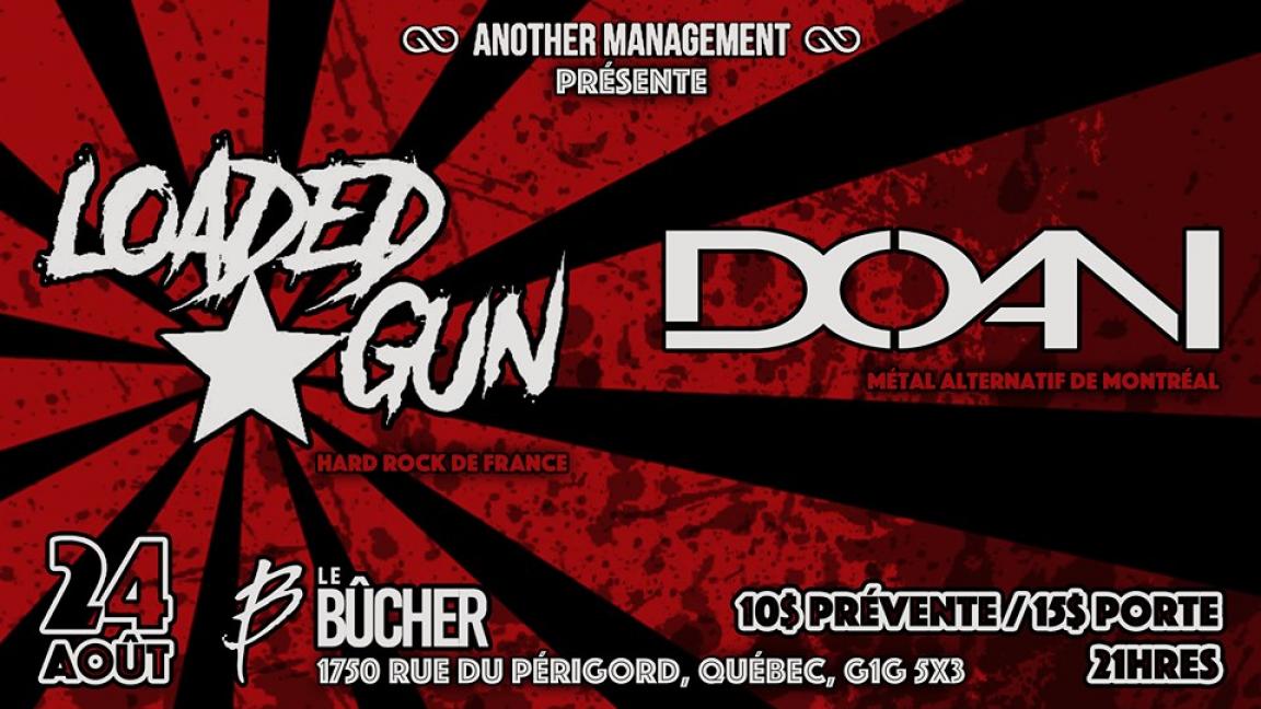 Soirée Hard Rock avec Loaded Gun et DOAN