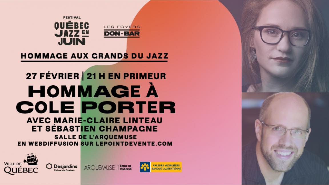 Hommage à Cole Porter avec Marie-Claire Linteau et Sébastien Champagne