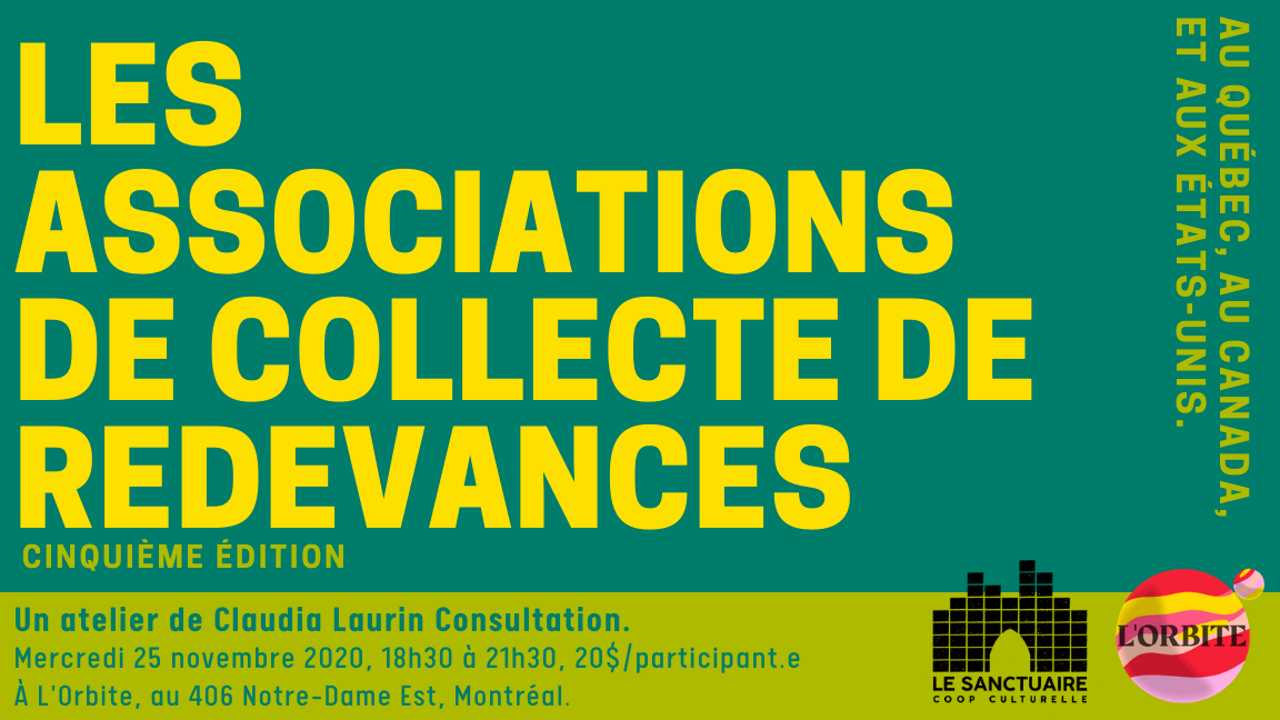 Associations de collecte de redevances musicales - Atelier explicatif