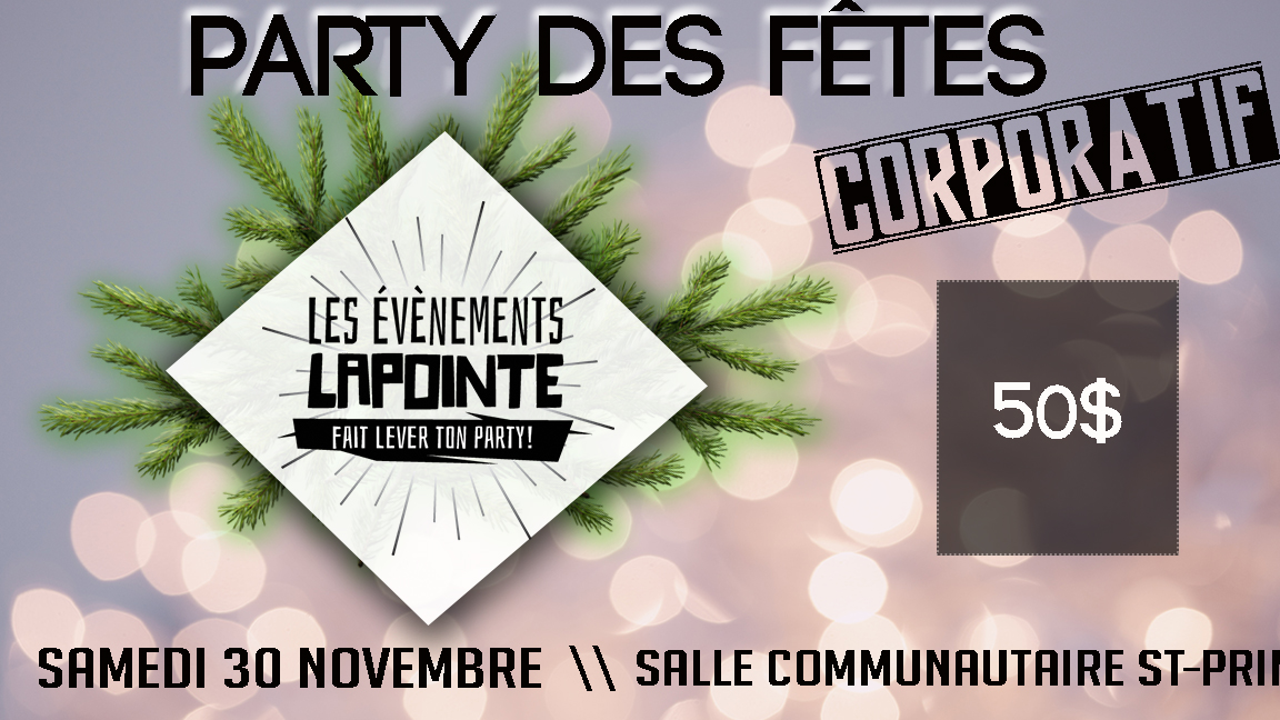 Party de Noël - Les Événements Lapointe