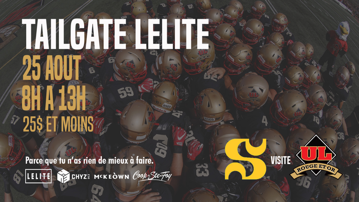 TAILGATE LELITE - Football Rouge et Or