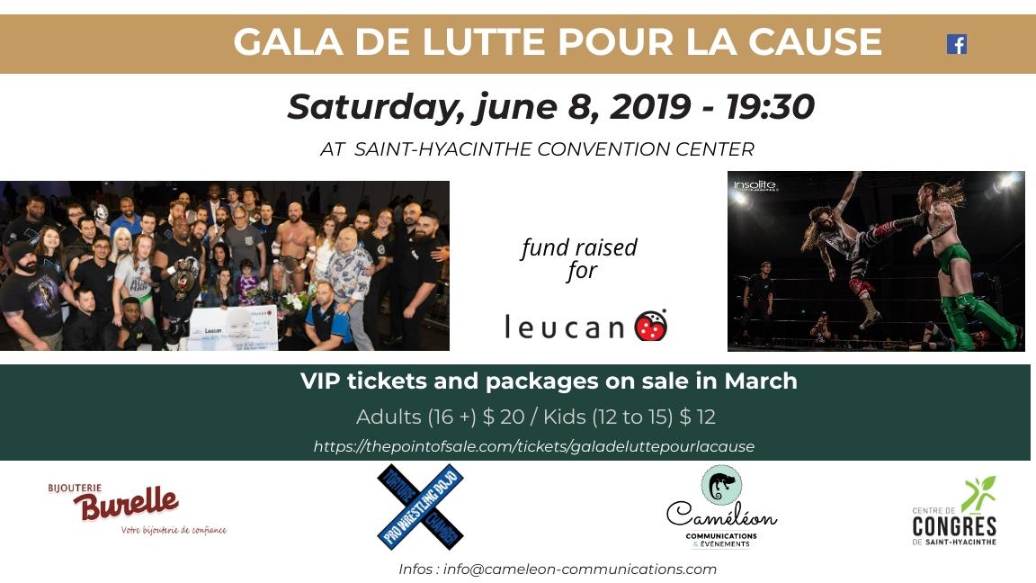 Gala de lutte pour la cause (2nd edition)