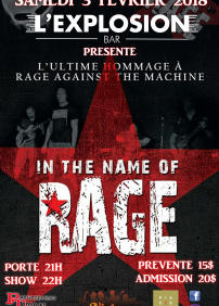Hommage à Rage against the Machine au Bar l'Explosion (03/02/2018)