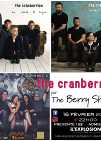 Bar L'Explosion présente Hommage à Cranberries pour la St-Valentin: The Berry Shandy - Hommage à The Cranberries – 16 février 2018 – Bar L'Explosion, Saint-Hyacinthe, QC