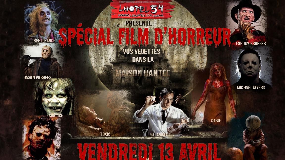 Lhotel 54 inc pr sente sp cial personnages films d 39 horreur 13 avril 2018 hotel 54 saint - Personnage film horreur ...