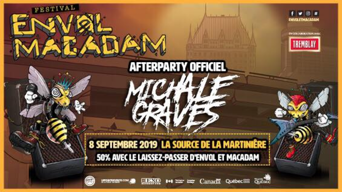 Michale Graves (Ex-Misfits) - AFTER PARTY OFFICIEL D'ENVOL ET MACADAM