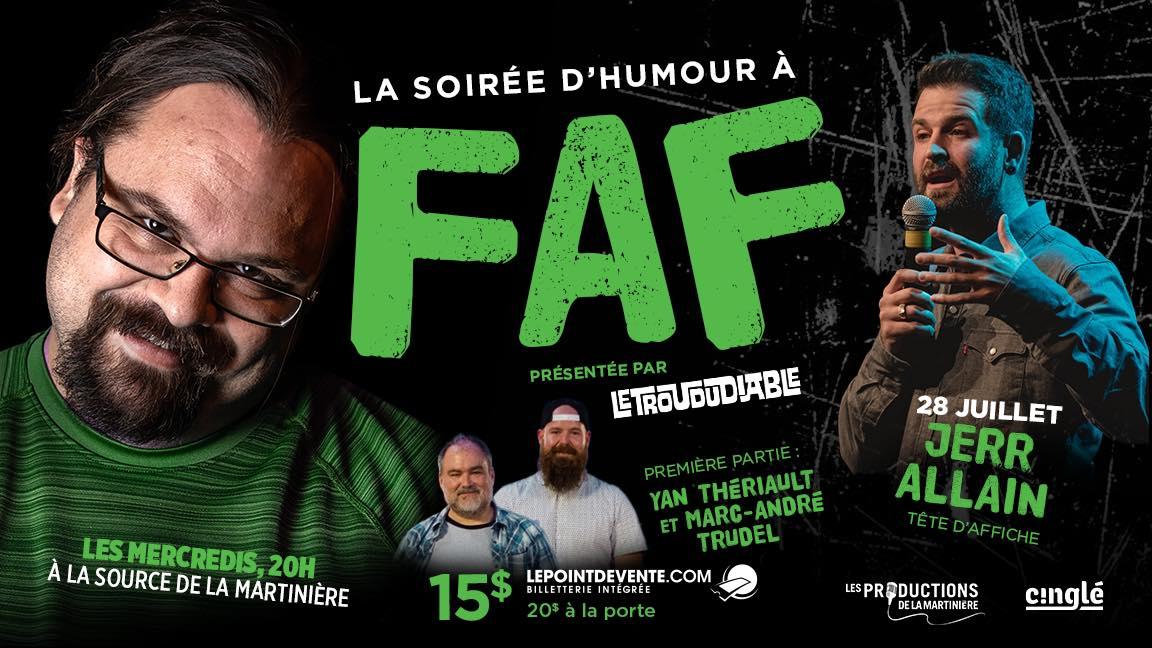 La soirée d'humour à FAF // Jerr Alain