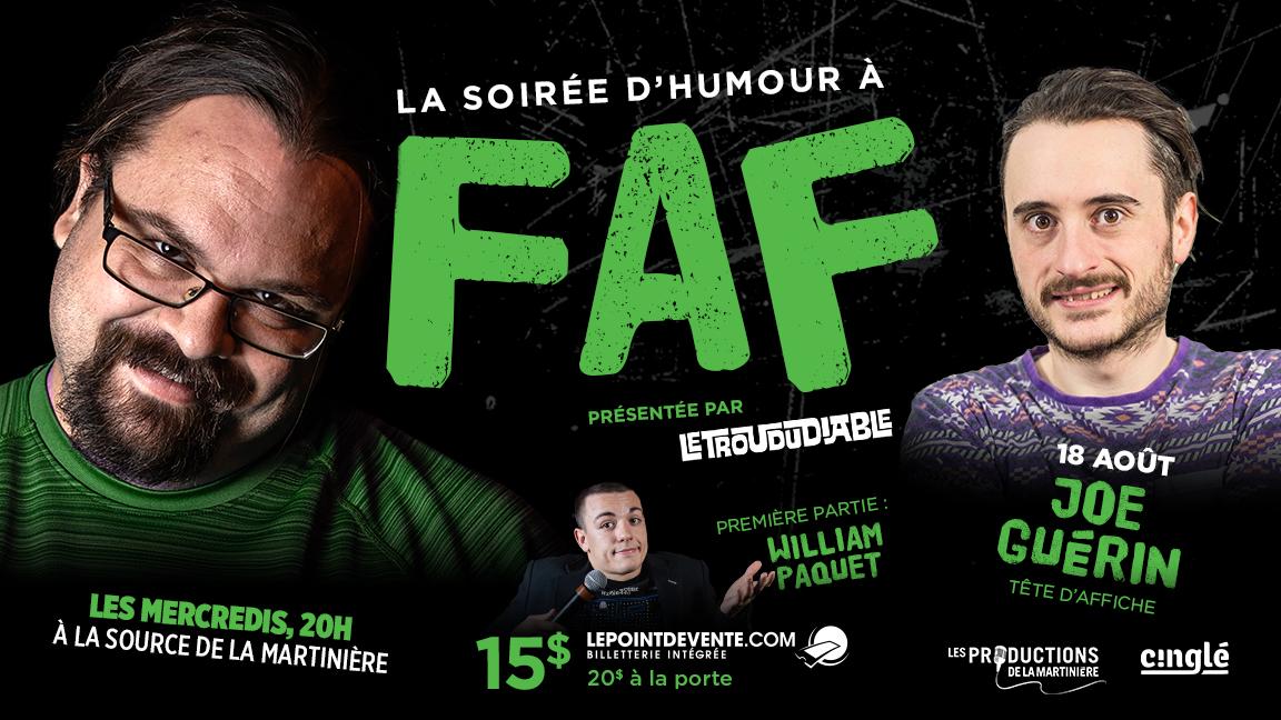 La soirée d'humour à FAF // Joe Guérin