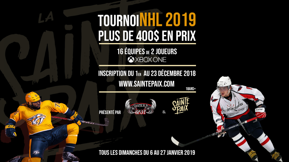 Tournoi NHL 2019: Inscriptions