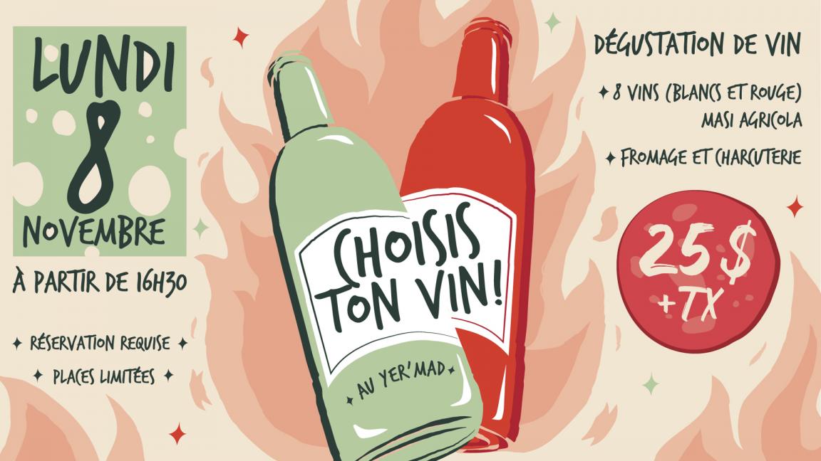 Choisis ton vin au Yer'Mad